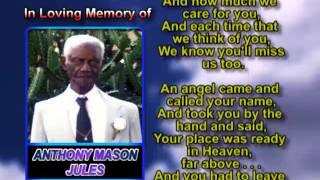 Anthony Mason Jules memorial