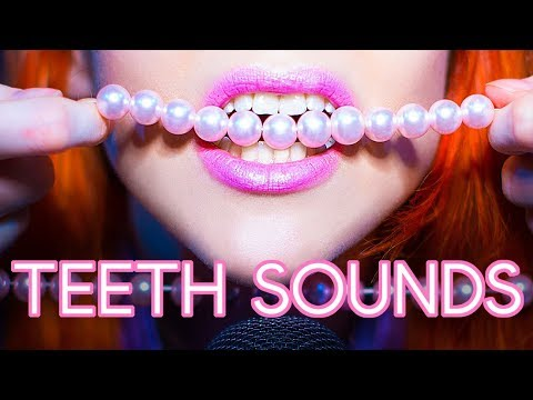 ASMR - TEETH SOUNDS - Teeth Tapping, Plastic Beeds, Metal Beeds And More