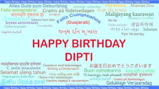 Dipti   Languages Idiomas - Happy Birthday