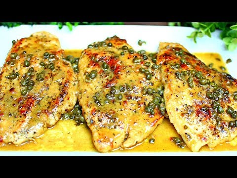 Chicken Piccata Recipe ( Chicken With Lemon Butter Sauce And Capers)