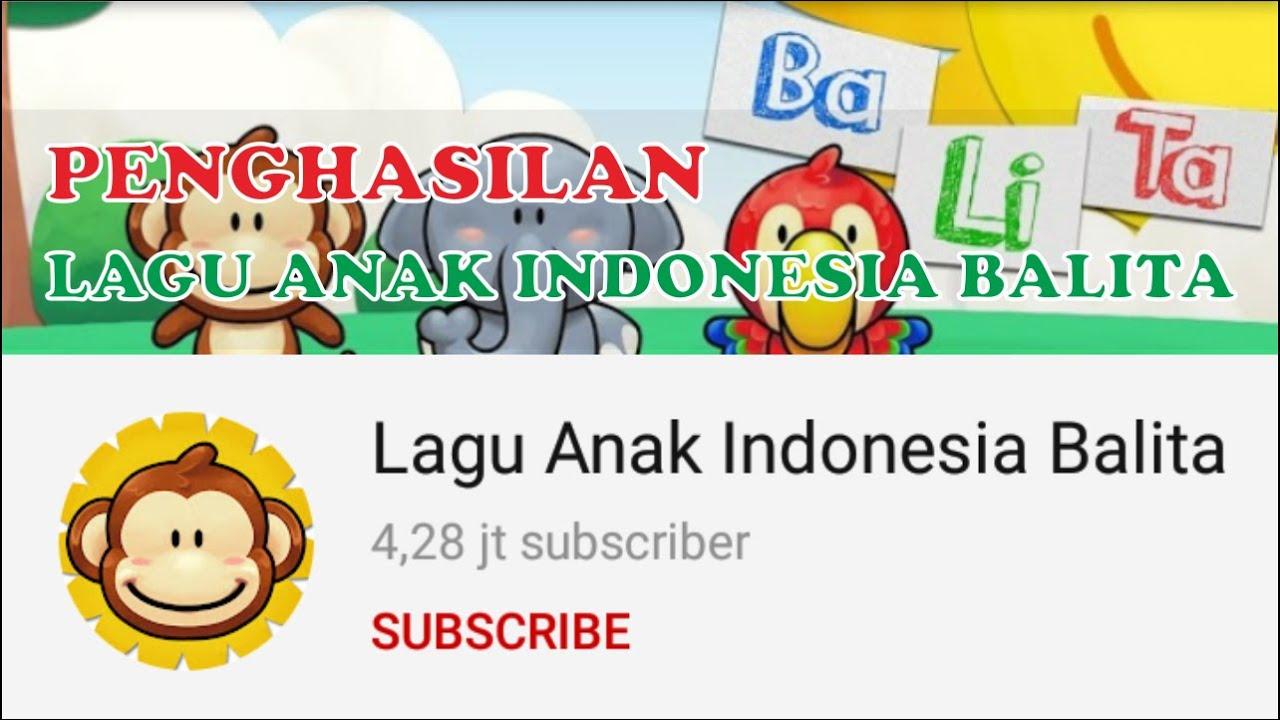 Gaji Lagu Anak Indonesia Balita Dari Youtube 2020 - YouTube