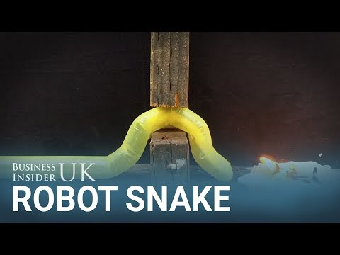 This inflatable robot snake could help with search and rescue missions