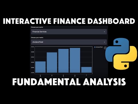 Build an interactive Finance Dashboard with Python & Streamlit to Compare Fundamentals Of Stocks