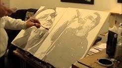 U2 Bono Tonal Portrait Painting (video 5)