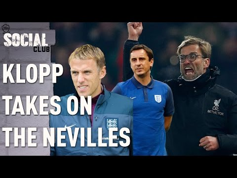 KLOPP TAKES ON GARY AND PHIL NEVILLE | SOCIAL CLUB