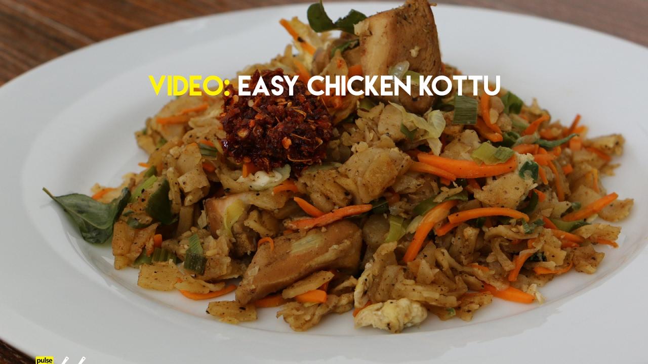 how to make cheese kottu recipe