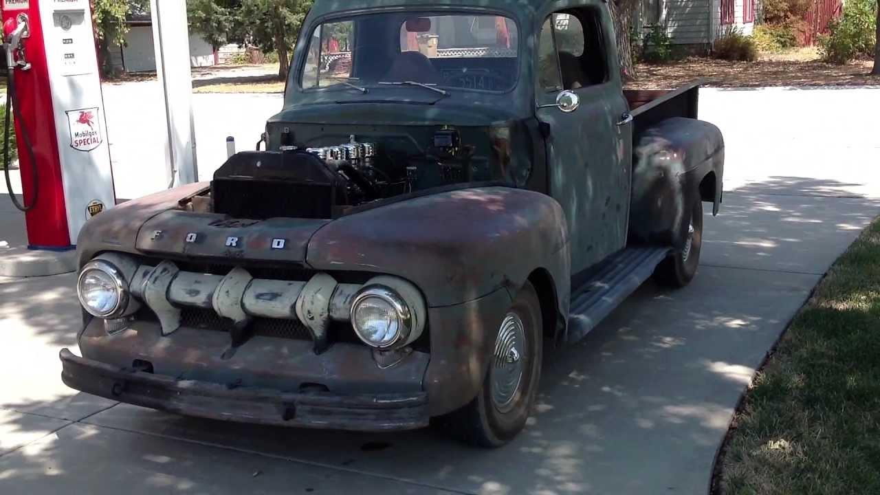 1952 Ford F1 Pickup Flathead Rat Rod Youtube 1951 52 Pick Up