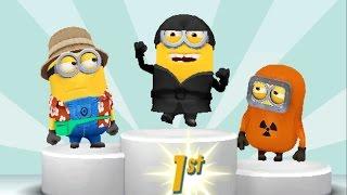 Despicable Me 2 Minion Rush Ninja Minion vs Tourist Minion, Baby Minion, Hazmat Minion