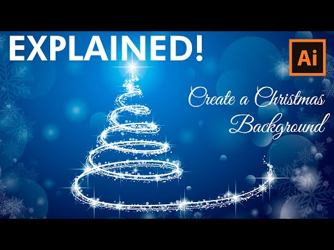Illustrator Tutorial - How to design a Christmas tree