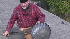 How to install a Lomanco WhirlyBird® Turbine Vent - Add ventilation your roof's attic space.