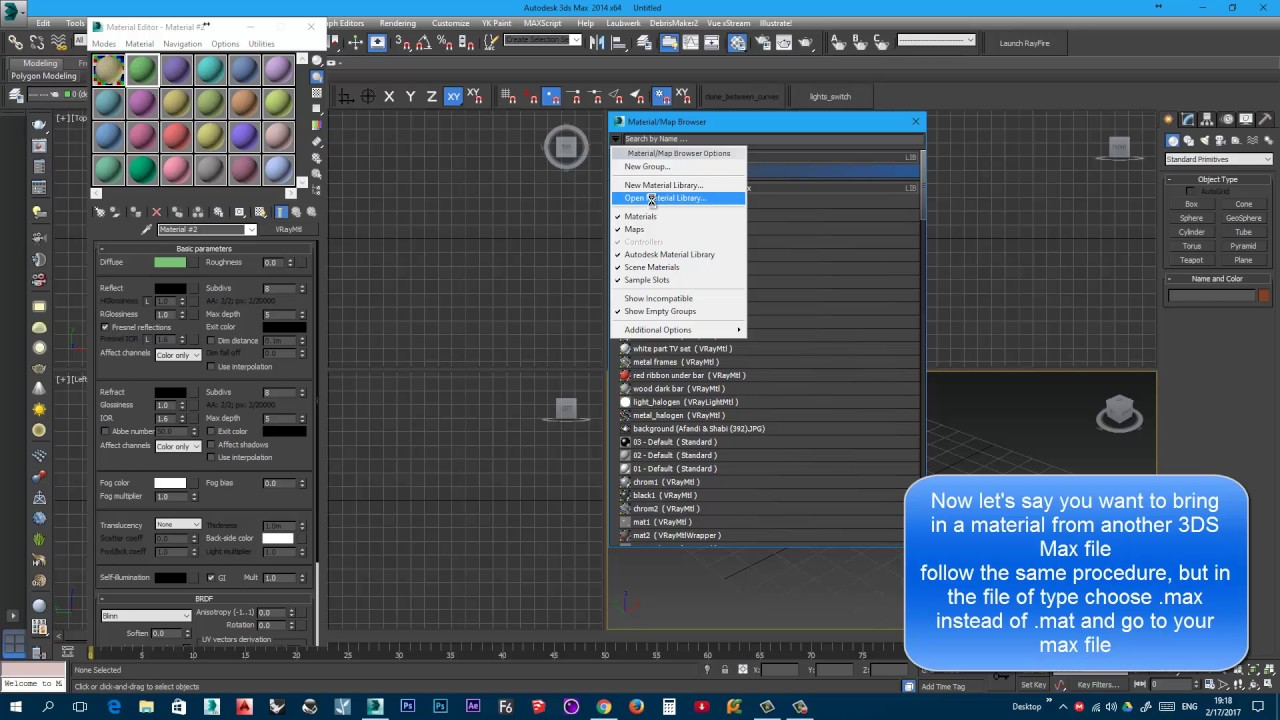 3DS Max import vray materials
