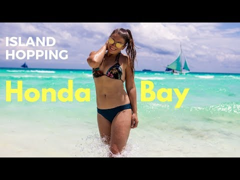 Island Hopping in Honda Bay Puerto Princesa Palawan & Making Filipino Friends -The Philippines Vlogs