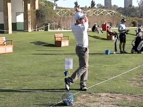 France Romain Wattel golf swing face on view