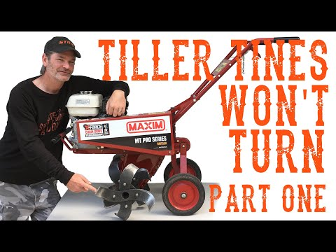 Why The Tines Won't Turn!  Let's See What's Inside A Rototiller Transmission - Video