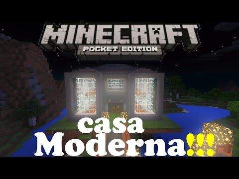 descarga casa moderna para minecraft pe youtube