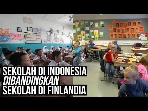 Sekolah di Indonesia dibandingkan Sekolah di Finlandia