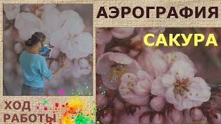 Аэрография на стене Ход работы | Наталья Боброва