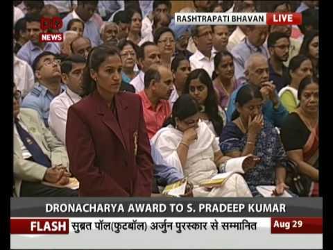 President confers Arjuna awards 2016