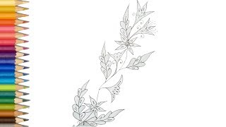 How to flower design drawing for beginners step by step |How tyo draw wedding flower |
