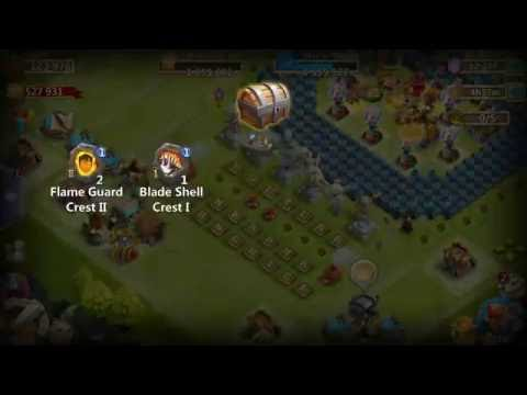 Castle Clash: 100 Stamina Cards- Road To 999 Crest Bags (Hoarding Episode 1)