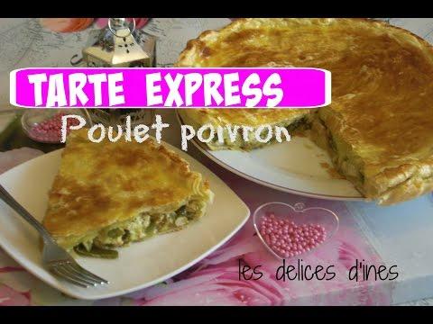 ✰❤recette-tarte-poulet-poivron-les-delices-d'ines-✰❤