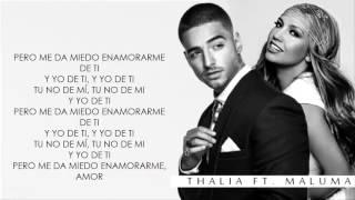 desde esa noche   maluma ft thalia    video letra  2016