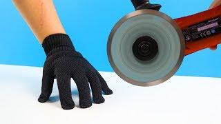 Experiment - Schnittfeste Handschuhe gegen Flex und Laser   Jumanji TM