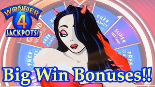 Big win Bonuses!! She appeared with Ravens!!!Wicked Winnings on Wonder 4.