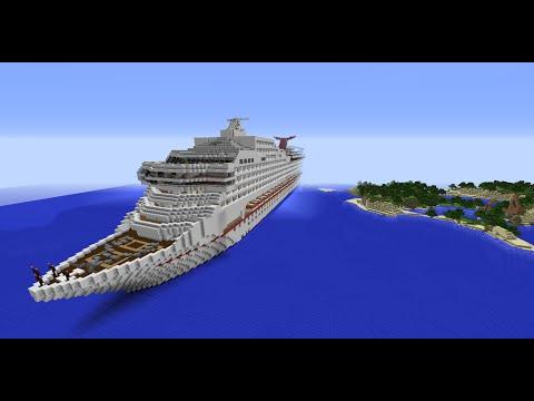 Minecraft cruise ship! Carnival Sunshine (Interior/Exterior) (English)