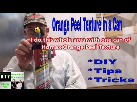 How To Match Orange Peel Texture- Using A Can Of Homax Orange Peel Texture On A Drywall Repair