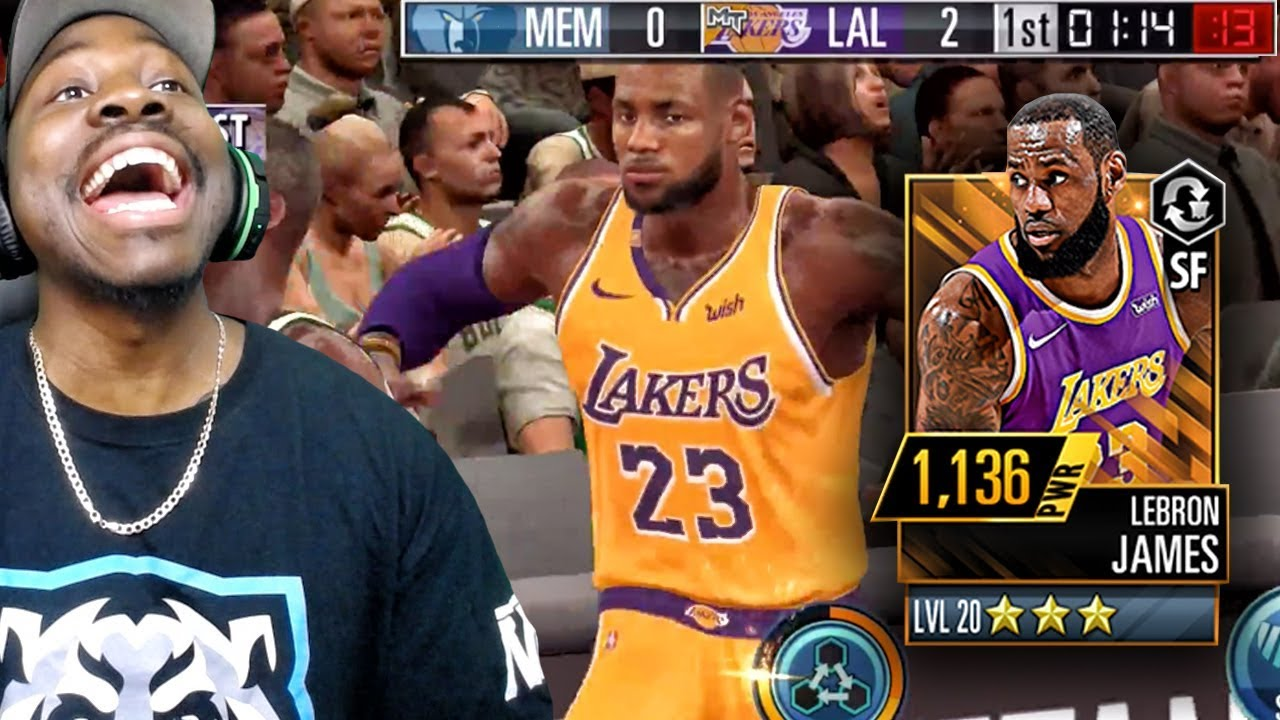 ba09c9f2184 MAXED OUT LEBRON JAMES POSTER DUNKING! NBA 2K Mobile Gameplay Ep. 12 ...