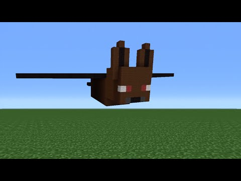 Minecraft Tutorial: How To Make A Bat Statue
