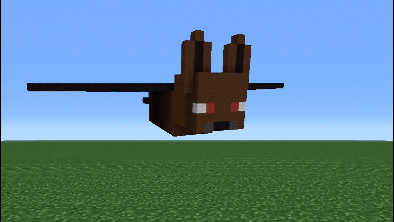 Minecraft Tutorial How To Make A Bat Statue Youtube