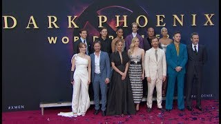 """Dark Phoenix"" premiere ALL red carpet arrivals & cool shots!"