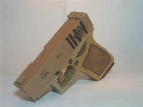 Homemade Cardboard Gun Youtube