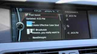 BMW Apps - Twitter, Facebook, Pandora, Calendar