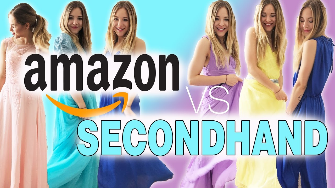 GÜNSTIGE (ABI-BALLKLEIDER) I LIVE TRY ON I AMAZON vs SECONDHAND