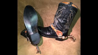 Lizard Skin Lucchese Boots Refurbish with JR Soles
