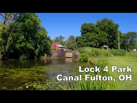 Hike And Bike The Ohio & Erie Towpath | Lock 4 Park | Canal Fulton, OH