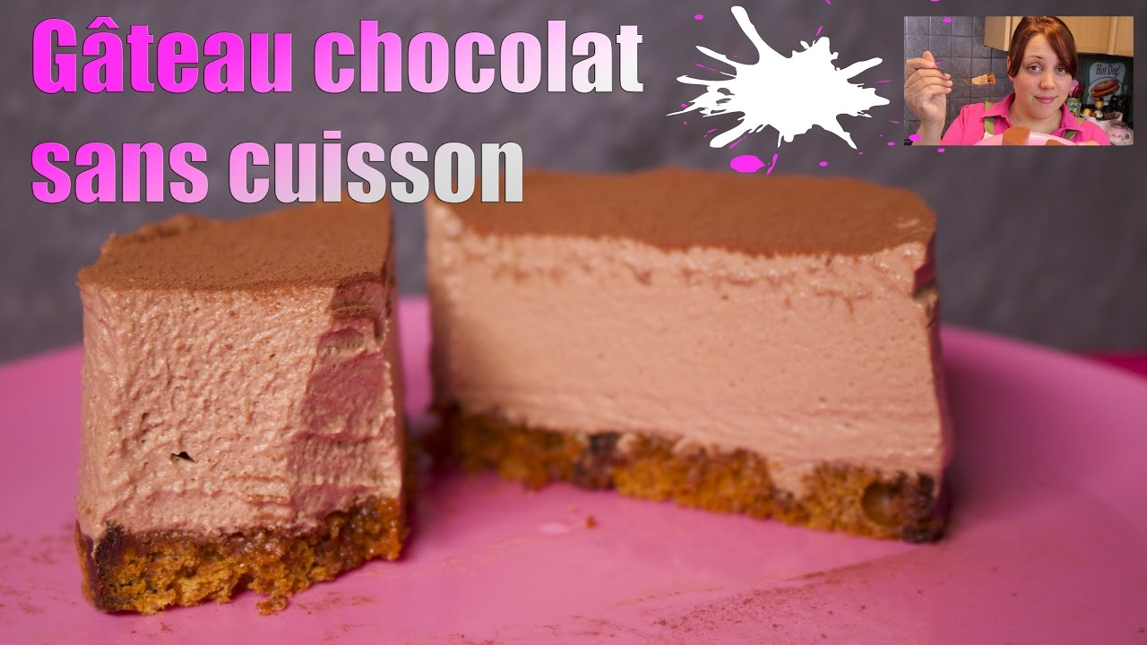 g teau au chocolat sans cuisson youtube