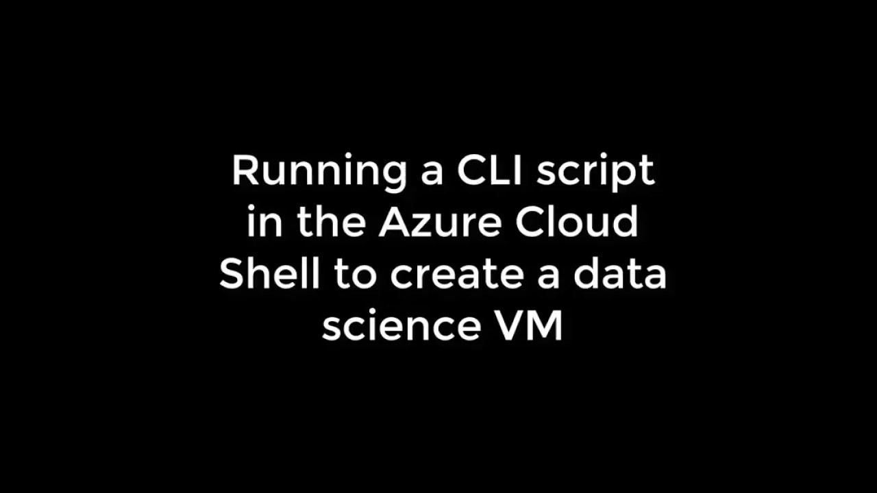 Deploying an Azure Data Science VM from the command line