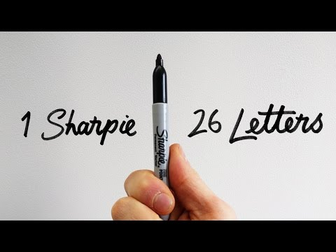 1 Sharpie  26 Letters  How to draw the SERIF Alphabet