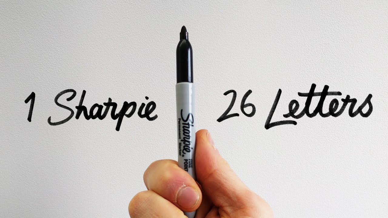 1 Sharpie 26 Letters How To Draw The Serif Alphabet Youtube