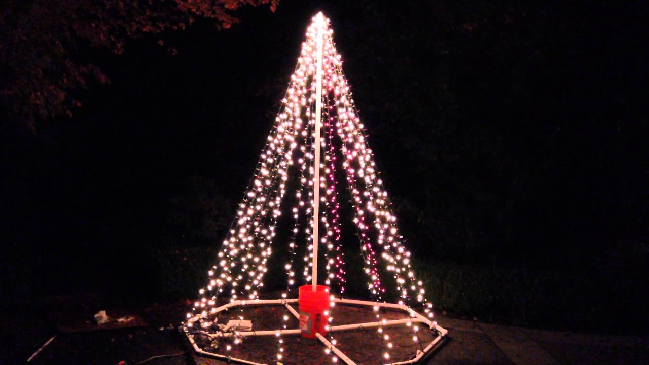 Christmas Light Mega Tree First Test   YouTube