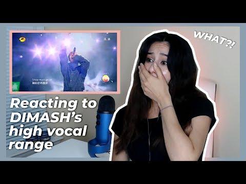American girl reacts to Dimash Kudaibergen high vocal range - The show must go on