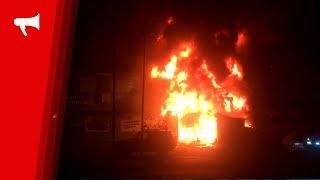 """Супермаркет """"Фреш 25"""" горит на Гайдамаке во Владивостоке"""