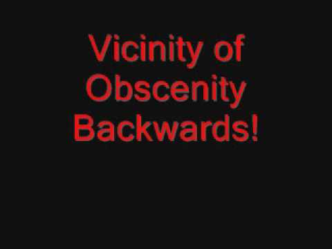 System of a Down - Vicinity of Obscenity Backwards