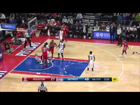 Houston Rockets vs Detroit Pistons | November 30, 2015 | NBA 2015-16 Season
