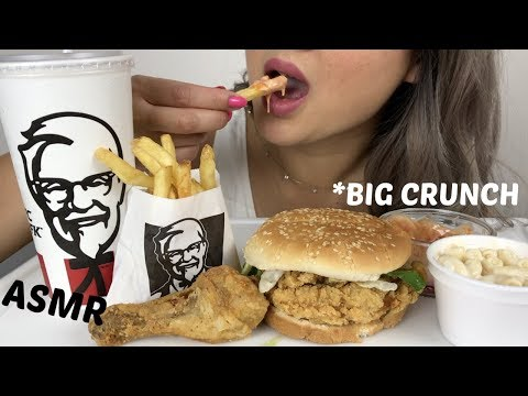 KFC BIG CRUNCH BOX MEAL | *No Talking ASMR | N.E Lets Eat
