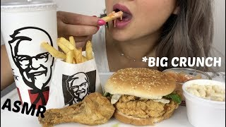 KFC BIG CRUNCH BOX MEAL   *No Talking ASMR   N.E Lets Eat